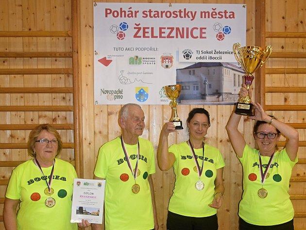Pohár starostky města Železnice viBoccie zná své vítěze.