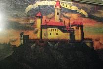 Veliš, kde kdysi stával hrad, obraz.