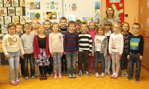 Žáci 1.třídy ze  Základní školy Na Daliborce  Hořice