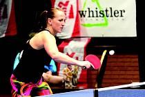 Úspěšná reprezentantka v racketlonu Lucie Hlaváčová. V červenci nás bude prezentovat na mistrovství světa.
