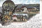 Bělohradská Bažantnice kdysi - pohlednice.