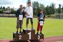 Stupně vítězů si vybojoval třetím místem v disku Lukáš Vejborný.