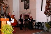 Koncert v železnickém kostele.