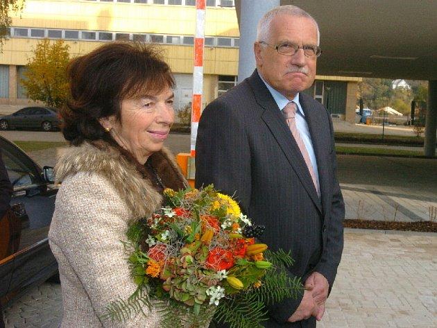 Václav Klaus s manželkou Lívií.