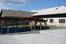 Budování sběrného dvora v Sobotce.