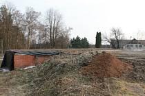 Místo pro stavbu kulturního domu v Boháňce.