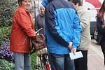 První voliči v Jičíně