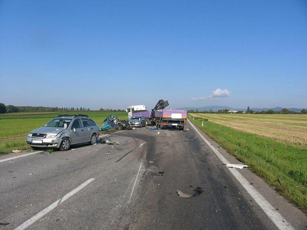 Z místa nehody u Úlibic.
