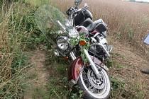 Nehoda motocyklu u Bílska.