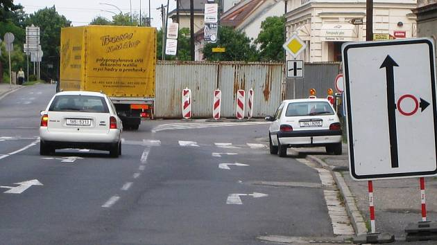 Uzavírka - ulice Markova