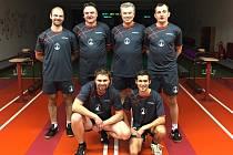 Družstvo Nové Paky, které figuruje na šestém místě Východočeské kuželkářské divize mužů.