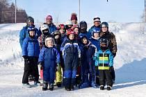 Z týdenní školy lyžování ve SKI Máchovka.