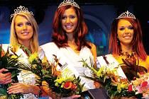 Vítězky národního kola Miss Europe 2007, zleva první vicemiss Aneta Hejkalová, vítězka Lucie Blažková a druhá vicemiss Kateřina Seidnerová.