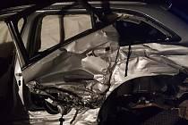 Srážka dvou automobilů se naštěstí obešla bez zranění.