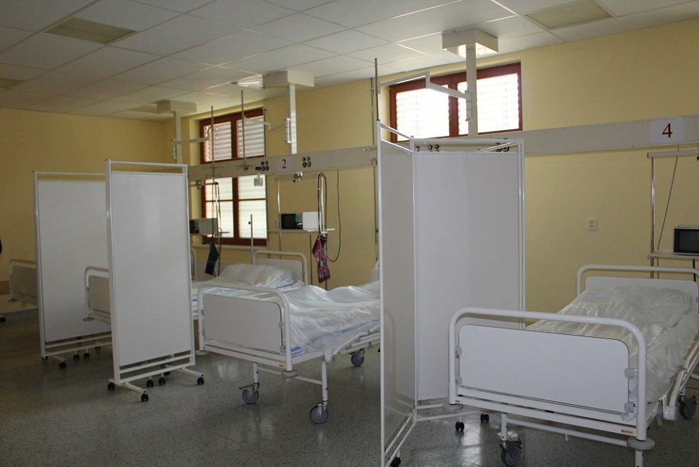 Oddělení pro pacienty s podezřením na COVID-19 v jičínské nemocnici.