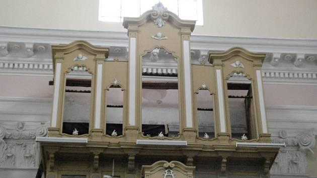 Varhany v jičínském kostele sv. Jakuba.