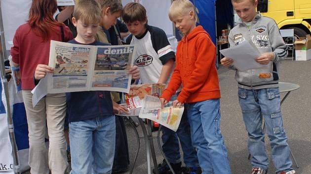 O náš deník byl zájem i mezi mladými čtenáři.