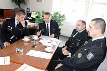 ZŘÍZENÍ detašovaného pracoviště v Hořicích oznámili policisté novinářům při bilanční tiskové konferenci.