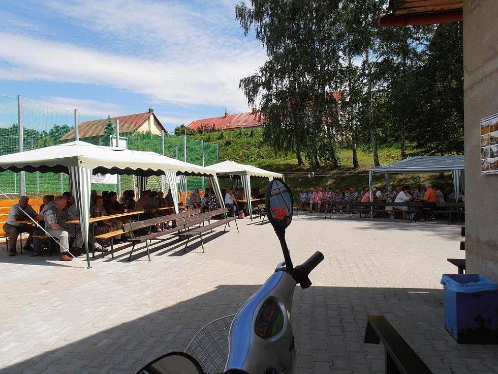 Ze samšinského koncertu dechové hudby Český ráj Všeň.
