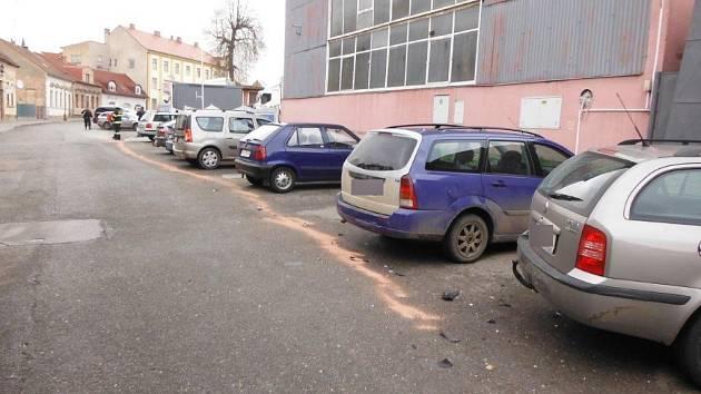 Nehoda v hořické Klicperově ulici.