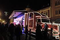 Z návštěvy Vánočního kamionu Coca-Cola v Jičíně.