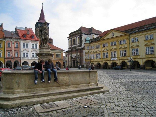 Jičínské Valdštejnovo náměstí.