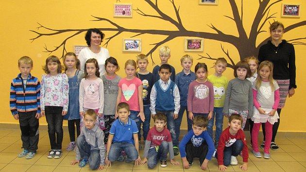 Žáci třídy 1.Aze ZŠ K. V. Raise Lázně Bělohrad (třídní učitelkaPavlína Krátká).