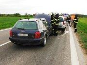 Dopravní nehoda zbrzdila provoz