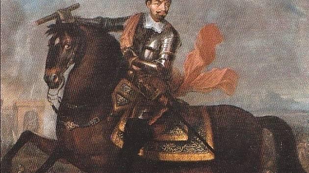 Vévoda Albrecht z Valdštejna.