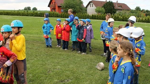 Dětská hasičská soutěž v Nemyčevsi.