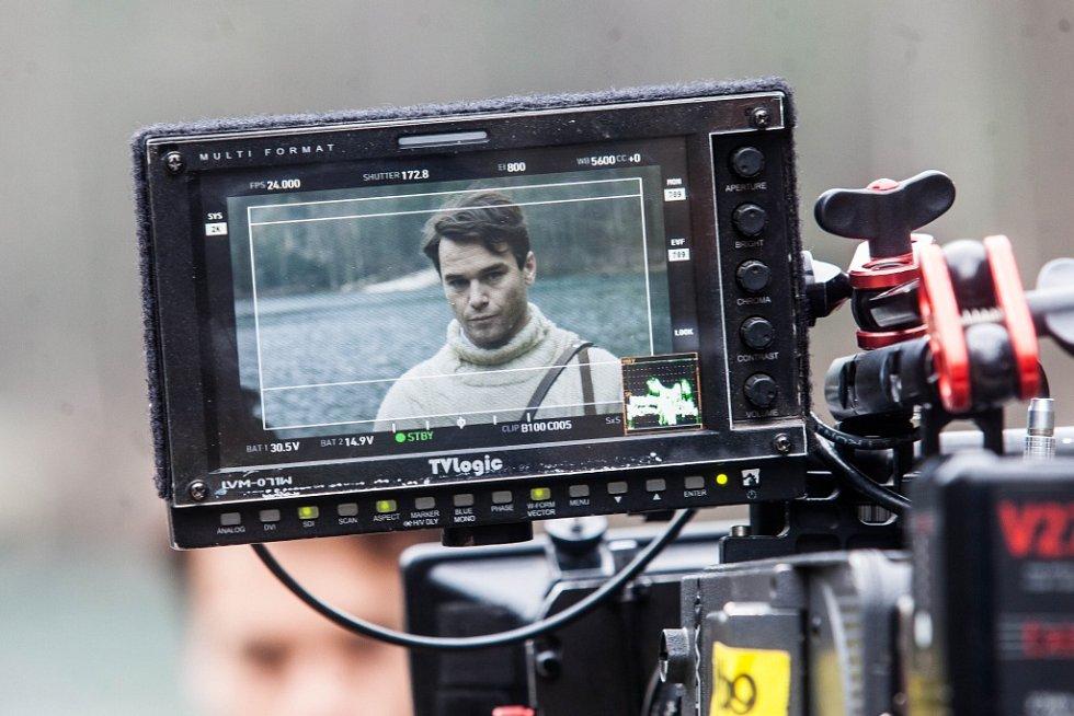 Natáčení filmu Tenkrát v ráji, scény v Adršpachu.
