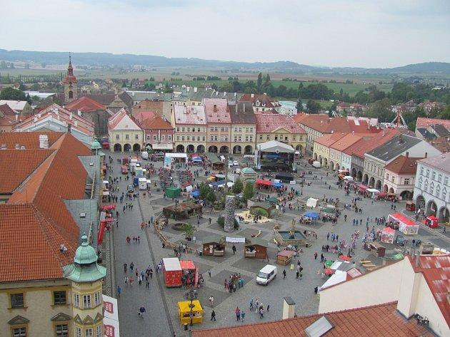 """Jičínské """"pohádkové"""" náměstí."""