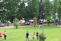 Na akci nazvané Zahrada plná umění představili žáci jičínské Zušky obory, jejichž studium škola umožňuje.