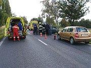 Dopravní nehoda u Milovic.
