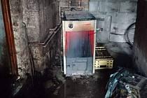 Kopidlenští hasiči zasahovali v kotelně domu ve Zlivi u Libáně.