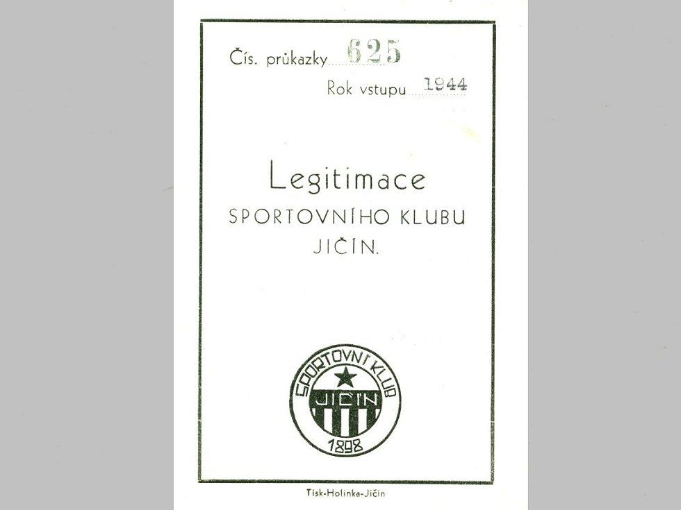 Legitimace Sportovního klubu v Jičíně roku 1898.