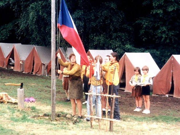 Tábor v Netolicích, rok 1996.