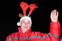 Ze slavnostního rozsvěcení vánočního stromu ve Valdicích.