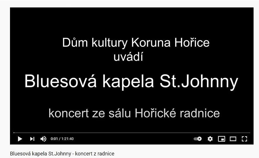 Koncert z hořické radnice - kapela St.Johnny.