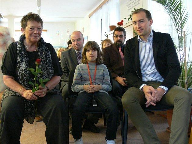 Dcera Václava Čtvrtka Markéta Tengbom se synem Paulem a vnukem Fabianem.