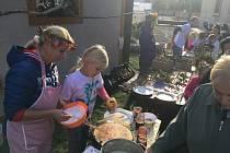 Žáci v Dětenicích připravili velký farmářský trh.