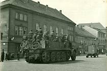 Odjezd Němců z Jičína, květen 1945.