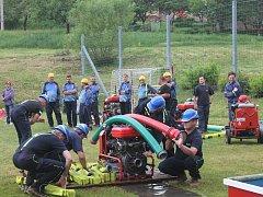 Okrsková soutěž hasičů v Úbislavicích.