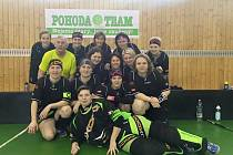FLORBALOVÉ družstvo FBK Jičín Pohoda Team B, aktuálně vedoucí celek druhé ligy žen.