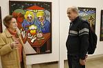Malíř Břetislav Kužel vystavuje v jičínské galerii.