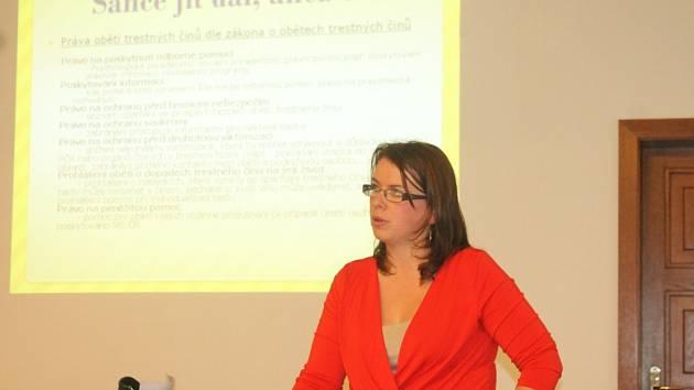 Beseda s Kateřinou Kaizrovou v rámci Týdne vzdělávání.