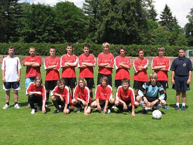 Novopacké fotbalové družstvo dorostu.