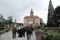 Z exkurze na polském zámku Ksiaz.