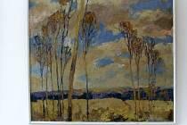 Z vernisáže výstavy obrazů Bohuslava Tůmy.