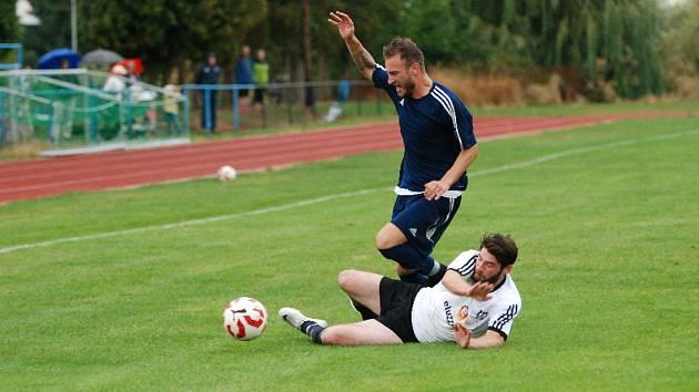 Krajský přebor ve fotbale: Sobotka - Vysoká nad Labem.